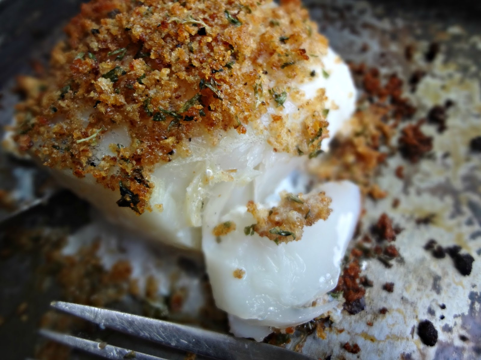 The Cooking Actress Breadcrumb Crusted Cod