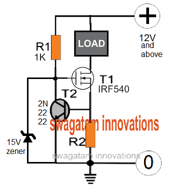 mosfet based constant current limit circuit