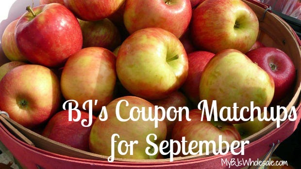 BJs Coupon Matchups for September 2014