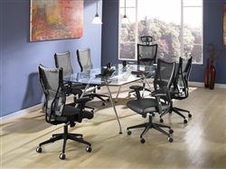 OFM Glass Top Conference Table at OfficeFurnitureDeals.com