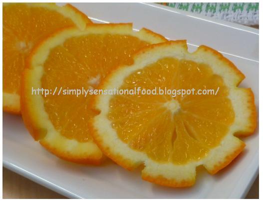 Simple lemon and orange garnishes create n carve fruit