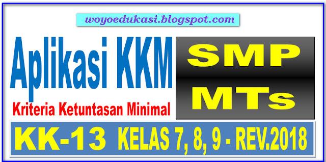APLIKASI KKM SMP/MTs KELAS 7, 8, 9 KURIKULUM 2013 REVISI 2018