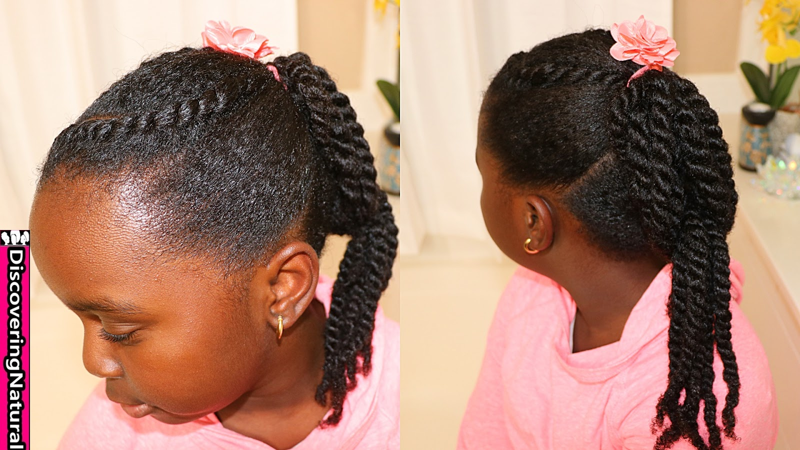 Discoveringnatural Kids Hairstyles Twists And Flat Twist