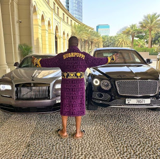 TOO MUCH MONEY!!! Hushpuppi Acquires Brand New Rolls Royce Few Weeks After Buying His Bentley (See Photo)
