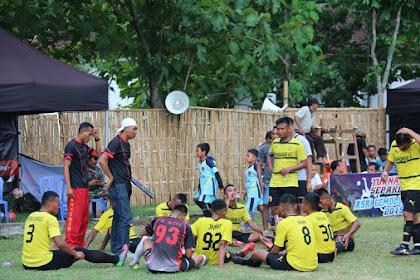 Yonif MR 411 Kostrad Ikuti Turnamen Sepakbola di Sragen