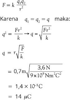 Jawaban soal fisika tentang listrik statis nomor 2