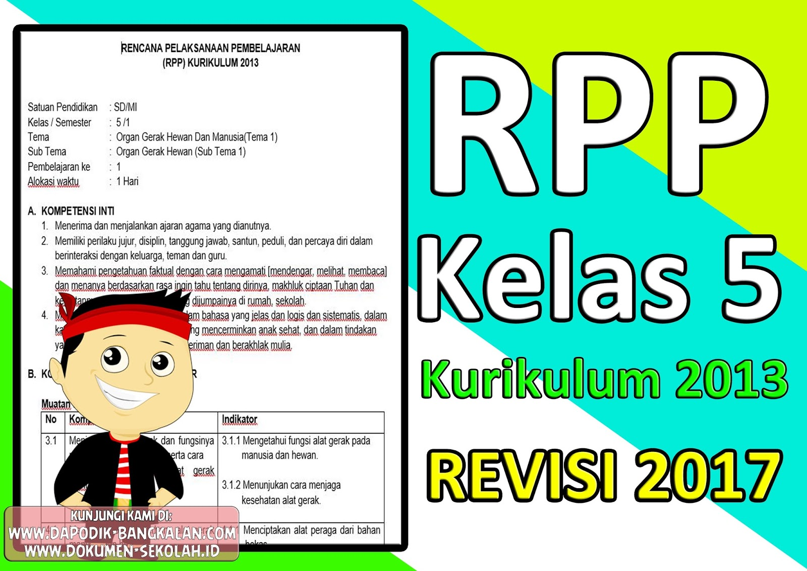 Download Rpp Kelas 5 Kurikulum 2013 Revisi 2017