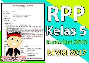 DOWNLOAD RPP Kelas 5 Kurikulum 2013 Revisi 2017