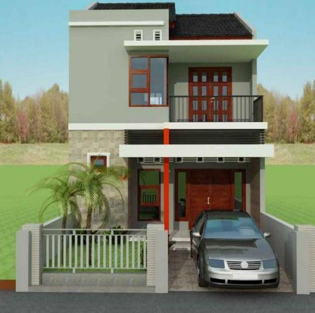 rumah bertingkat minimalis modern
