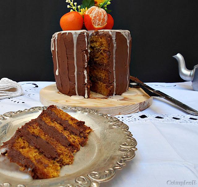 receita bolo de clementina cenoura e chocolate