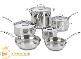 Perfect offers only in Amazon, stainless cookware from the brand Cuisinart with a Competitive price