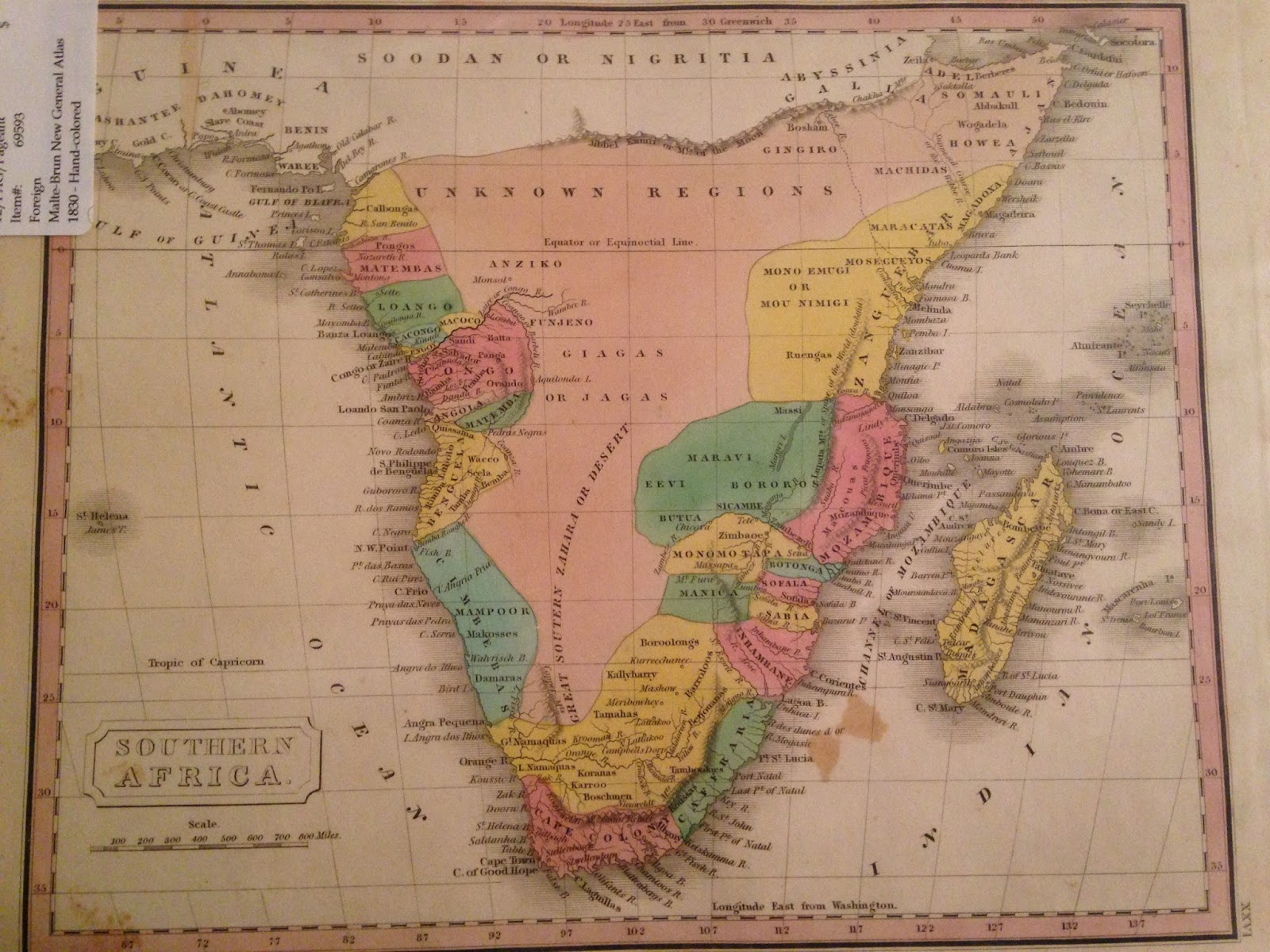 1830 malte brun map of southern africa showing south africa the cape colony