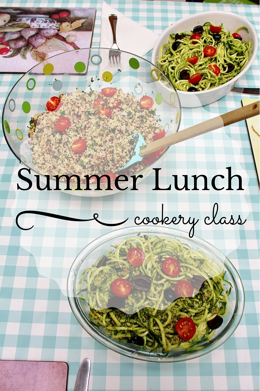 Summer lunch cookery class