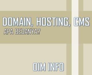 Perbedaan Domain, Hosting dan CMS