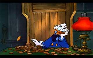 Scrooge playing Scrooge.