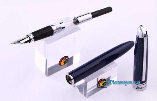 Chi tiết thiết kế bút máy Picasso 912 màu xanh