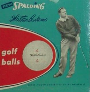 Walter Burkemo golf balls by Spalding