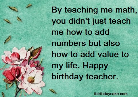 100+ Best Happy Birthday Wishes to Teacher (2019) - Messages