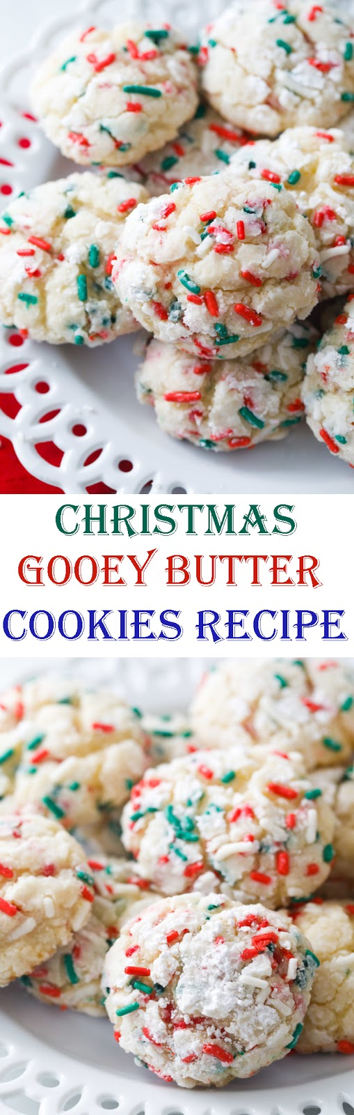 Christmas Gooey Butter Cookies Recipe Easy Christmas Cookies
