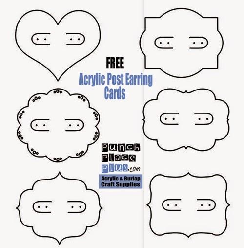 Finest Craft Chameleon Blog: FREE GIFT - 6 Downloadable Earring Card Designs DR85
