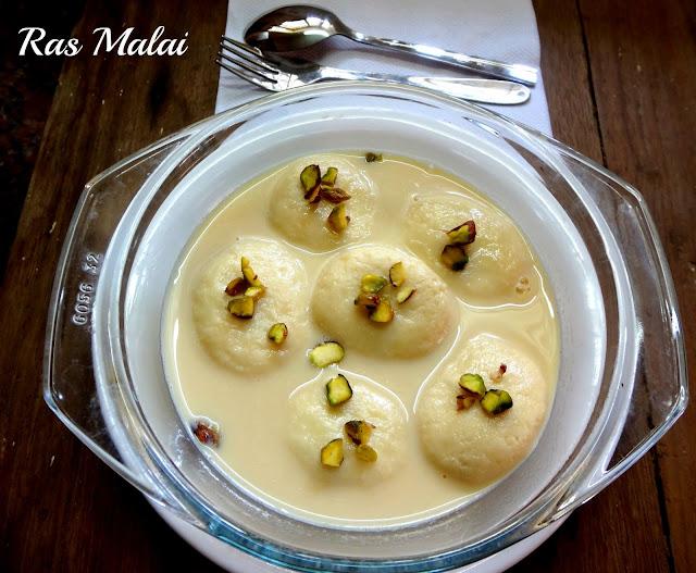 Ras malai Bengali sweet for Diwali , Festival recipe