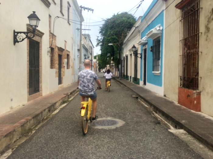 Bicycle rent explore Colonial Zone, Santo Domingo, adventure, local tourism, Dominican Republic, staycation