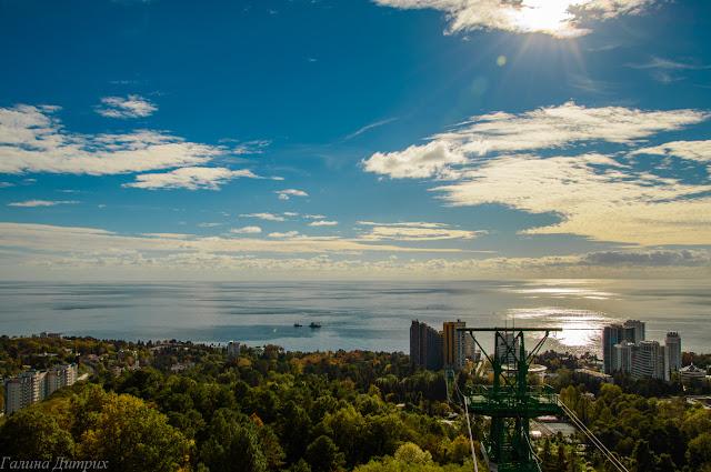 Вид на море Сочи фото
