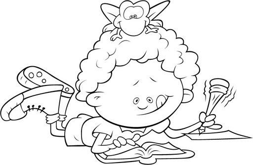 Desenhos De Criancas Lendo Livros Para Colorir Desenhos Para Colorir