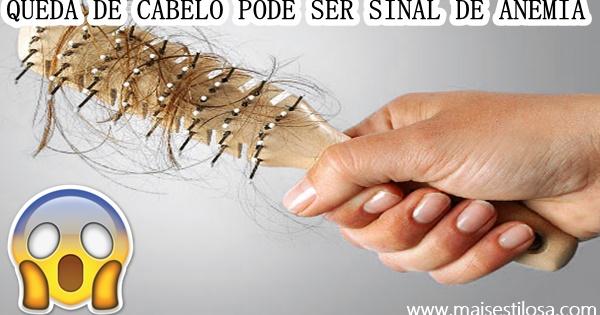 queda de cabelo anemia