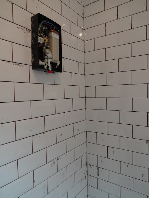 Metro Tiles in Shower Enclosure
