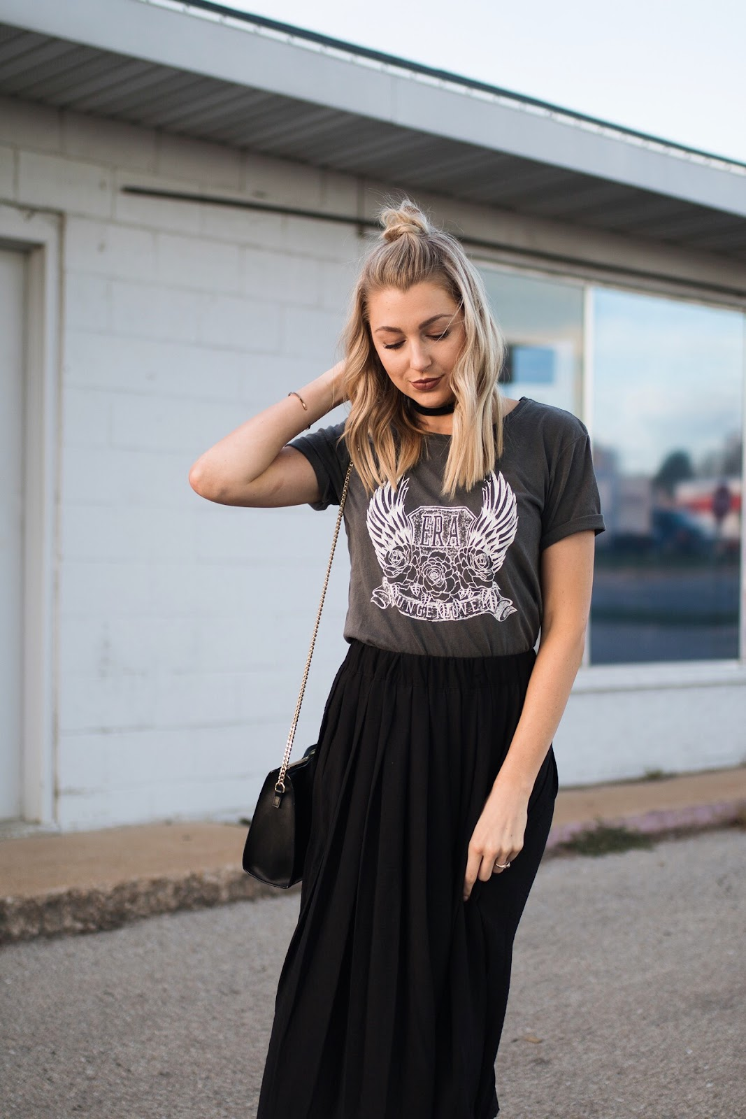 Graphic tee with a skirt