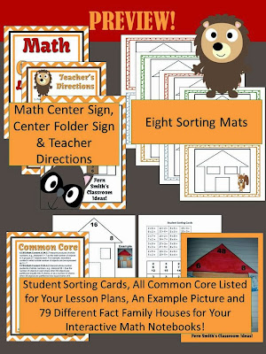 Fern Smith's Multiplication and Division Fact Families Center Game and Interactive Notebook Activity!