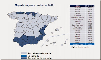mapa de comunidades con mayor incidencia de esguince cervical