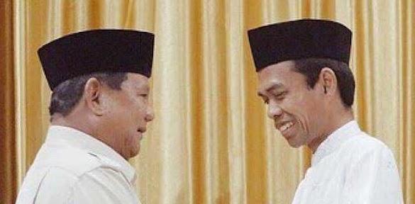 Pertemuan UAS Dan Prabowo Momen Yang Ditunggu-tunggu Umat