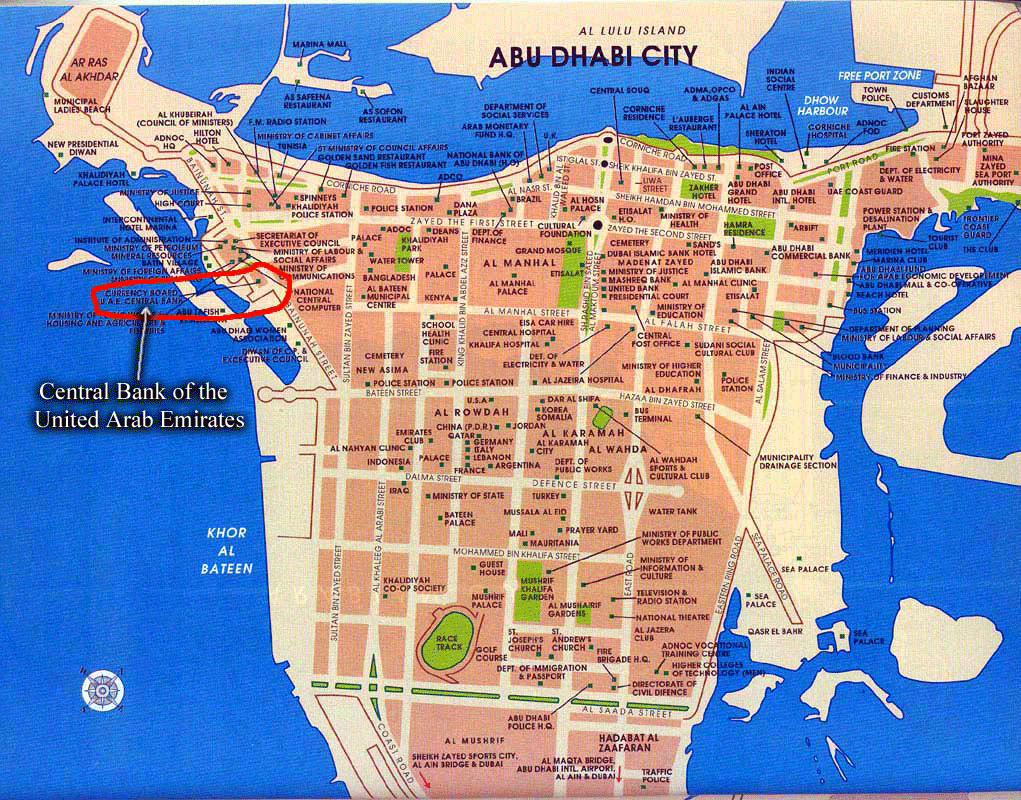 Free Printable Maps: Maps Of Abu Dhabi, United Arab Emirates