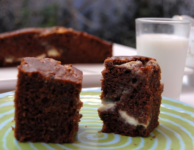 Brownies con Dulce de Leche y Queso Mascarpone