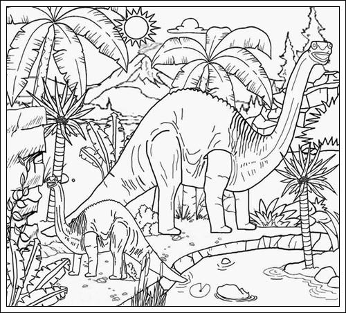 Ausmalbilder zum Ausdrucken: Ausmalbilder Jurassic World zum Drucken
