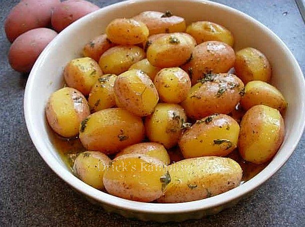 New Yellow Potatoes with Herb Butter ~ Drick's Rambling Cafe