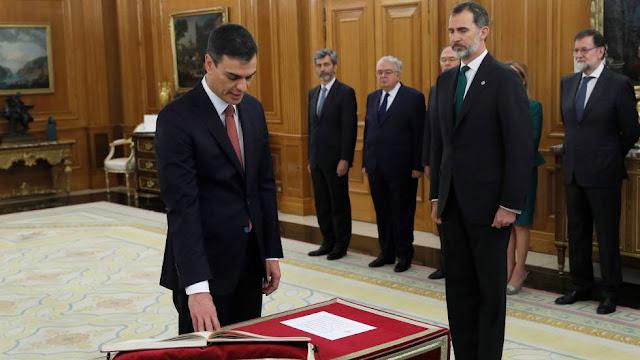 Pedro Sánchez toma posesión como presidente