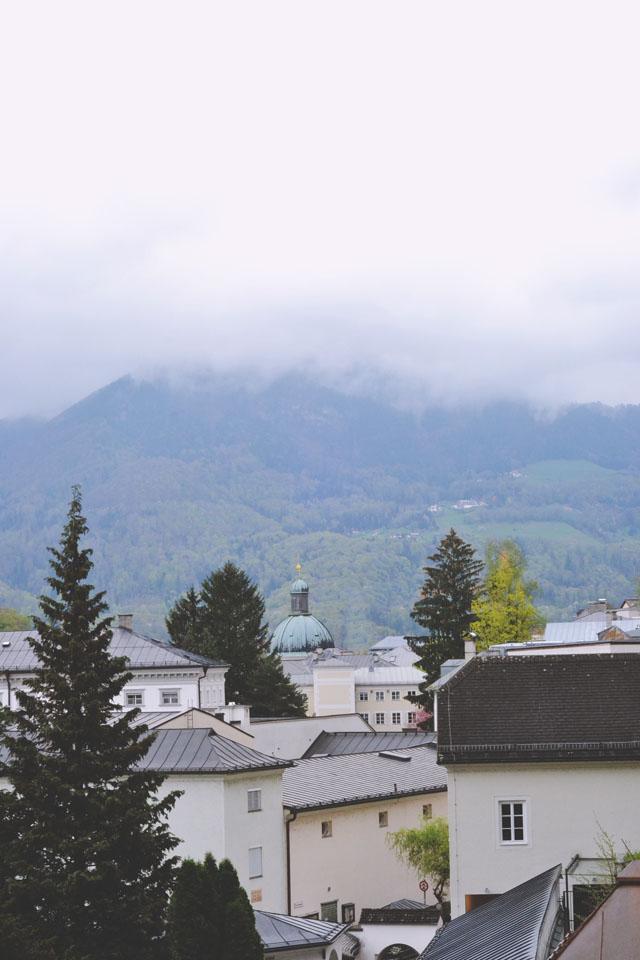 Salzburg cloud over Alps