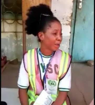 Female Corper Cries As Political Thugs Kidnap Her For Refusing To Rig Election