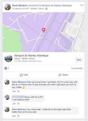 David Ibbotson memposting komentar untuk mengatakan dia 'sedikit berkarat' setelah terbang ke Prancis (Facebook / Dave Ibbotson)