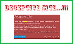 Cara Membuka Deceptive Site Terbaru
