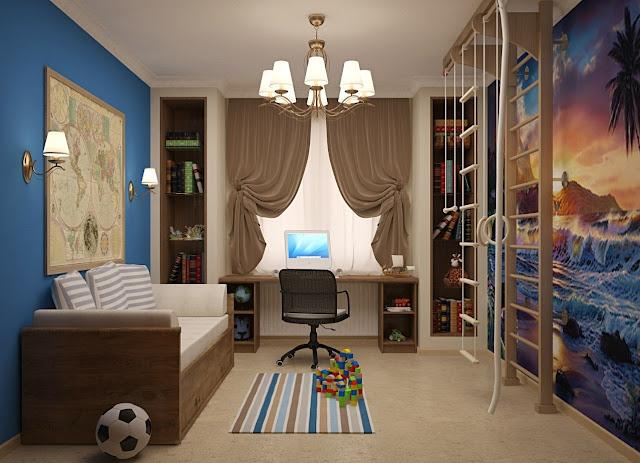 phòng ngủ bé trai - mẫu 4