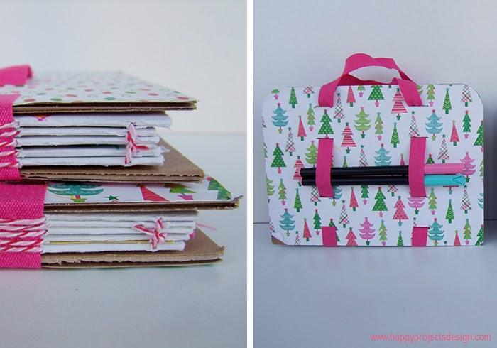 DIY: Encuadernación con cintas. Libreta maleta