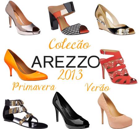 7381f7667 Nova Coleção Sapatos Bolsas Arezzo Verão 2013 - Fotos