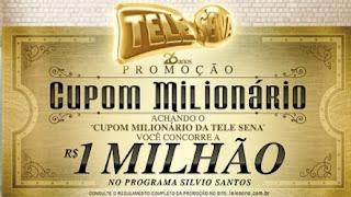 Promoção Tele Sena Cupom Milionário 2017 Aniversário 26 Anos