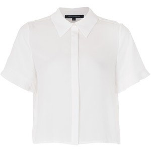 French Connection polly plains fluted sleeve top summer white, $25 from John Lewis