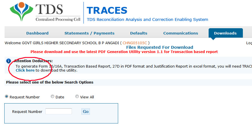 How To Form 16a From Traces In Pdf
