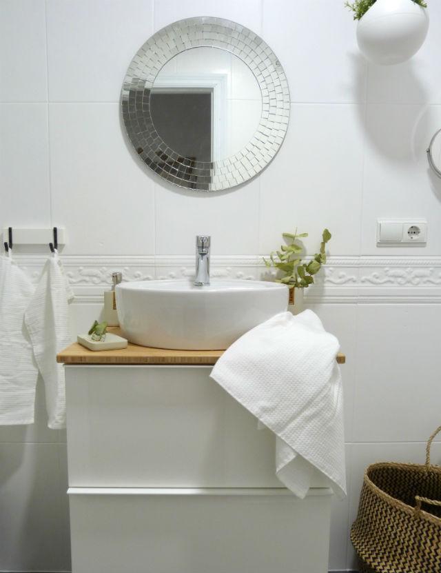 reforma de mi baño sin obras, antes y después. Renovar el baño sin obras. El resultado